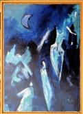 Unerzählte Geschichten - 14 Acryl auf Leinwand 50x70 cm